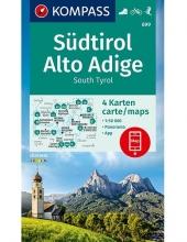 KOMPASS-Karten GmbH , KOMPASS Wanderkarte Südtirol, Alto Adige, South Tyrol 1:50 000