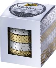 , Washi tape Folia hotfoil zilver en goud
