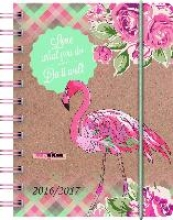 BRUNNEN Schülerkalender/Schüler-Tagebuch 2016/17 Flamingo