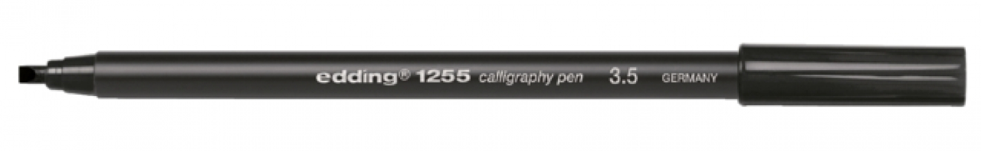 , Kalligrafiepen edding 1255 zwart 3.5mm