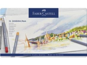 , Kleurpotloden Faber Castell Goldfaber aquarel blik à 36 stuks assorti