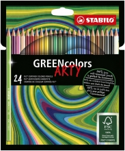 , Kleurpotloden STABILO Greencolors 6019/24-1-20 etui à 24 stuks