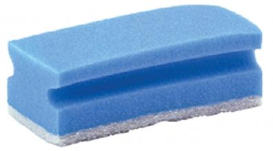 , Schuurspons blauw/wit met greep 7x14cm 10 stuks