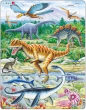 Lasren puzzel- Dinosaurussen wild- FH16