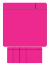 , Magneet scrum 75x75mm roze