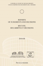 , Reports of judgments and decisions recueil des arrets et decisions 2010-III