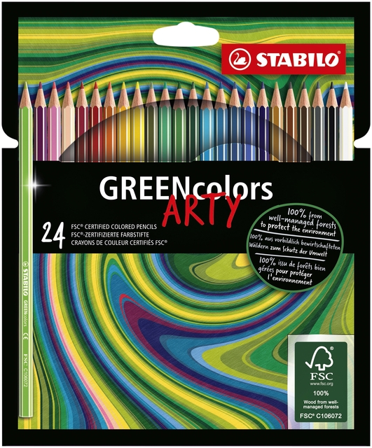 ,Kleurpotloden STABILO Greencolors 6019/24-1-20 etui à 24 stuks