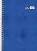 ,rido Buchkalender 2019 futura 2 Wire-O blau