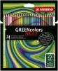 ,<b>Kleurpotloden STABILO Greencolors 6019/24-1-20 etui à 24 stuks</b>