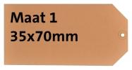 ,<b>Label karton nr1 200gr 35x70mm chamois 1000stuks</b>