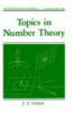 J. S. (Brigham Young University, Provo, Utah, USA) Chahal Topics in Number Theory