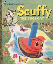 Golden Book Scuffy the Tugboat and His Adventures Down the River