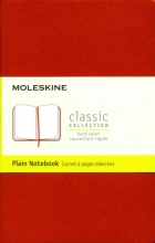Moleskine Classic Notebook, Pocket, Plain, Coral Orange