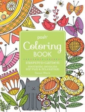 Black, Susan Posh Adult Coloring Book Inspired Garden: Soothing Designs f