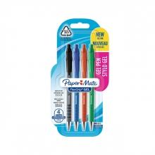 , Gelschrijver Paper Mate Flexgrip 0.7mm blister à 4 kleuren