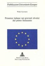 Kurmann, Walter Presenze Italiane Nei Giornali Elvetici del Primo Settecento