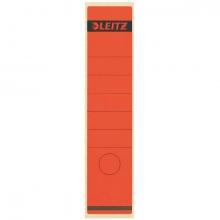 , Rugetiket Leitz breed/lang 62x285mm zelfklevend rood
