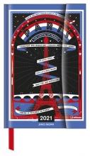 , Agenda 2021 teneues james brown  paris links week rechts notitie 10x15 cm magnee