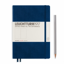 Lt342924 , Leuchtturm notitieboek medium 145x210 blanco marineblauw