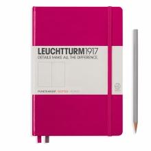 Lt344809 , Leuchtturm notitieboek medium 145x210 dots / bullets berry bessenrood
