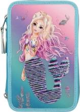 , Fantasy model 3-vaks etui gevuld met wrijfpailletten mermaid