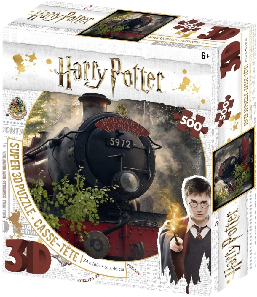 ,Puzzel 3d image hogwarts express 500 stuks
