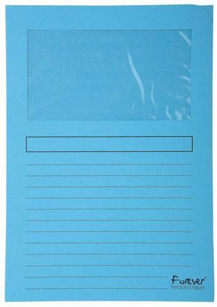 ,Insteekmap L-model Exacompta + venster karton lichtblauw