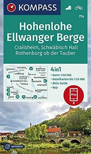 ,Hohenlohe, Ellwanger Berge, Crailsheim, Schwäbisch Hall, Rothenburg ob der Tauber 1:50 000