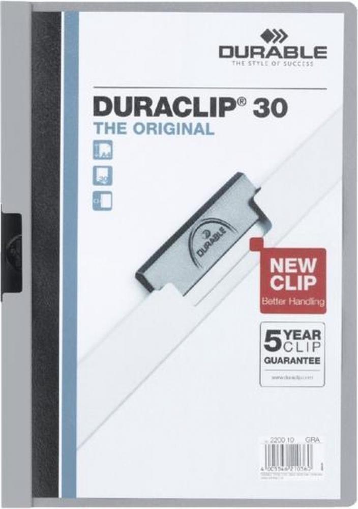 ,Klemmap Durable 2200 A4 3mm grijs