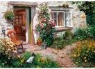 Wen-791708z , Roses around the door - s. darbishire - wentworth houten puzzel - 40 - 125x87mm