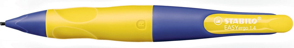 ,Vulpotlood STABILO Easyergo 1.4mm rechtshandig paars/neon geel blister