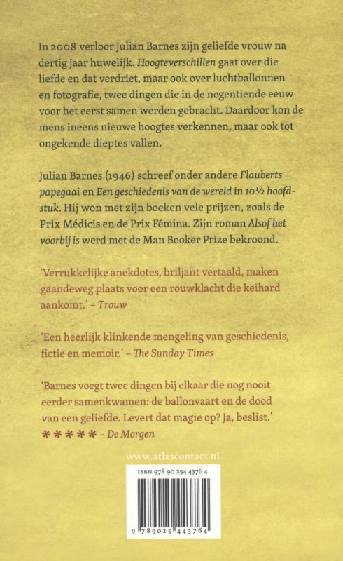 Julian Barnes,Hoogteverschillen