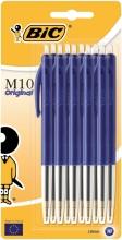 , Balpen Bic M10 blauw medium blister à 10st