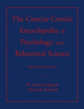 Craighead, W. Edward The Concise Corsini Encyclopedia of Psychology and Behavioral Science