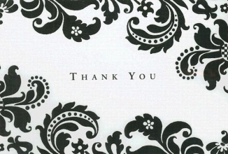 Shadow Tapestry Thank You Notes [With Envelopes]
