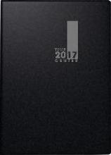 Taschenkalender TimeCenter 2017 Kunststoff schwarz. 2 Seiten = 1 Woche, 100 x 140 mm