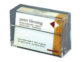 , Visitekaartenbak Sigel VA110 85x56x27mm staand glashelder