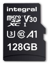 , Geheugenkaart Integral microSDXC V30 128GB
