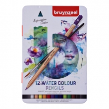 , Kleurpotloden Bruynzeel aquarel Expression blik à 12 stuks assorti