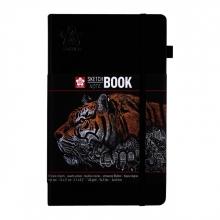 , Schets-notitieboek Sakura 13x21cm zwart