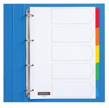 , Tabbladen Quantore 4-gaats 5-delig wit karton