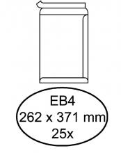 , Envelop Hermes akte EB4 262x371mm zelfklevend wit 25stuks