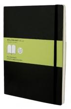 , Notitieboek Moleskine XL 190x250mm blanco zwart