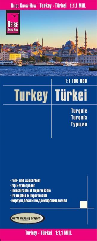 ,Reise Know-How Landkarte Türkei (1:1.100.000)
