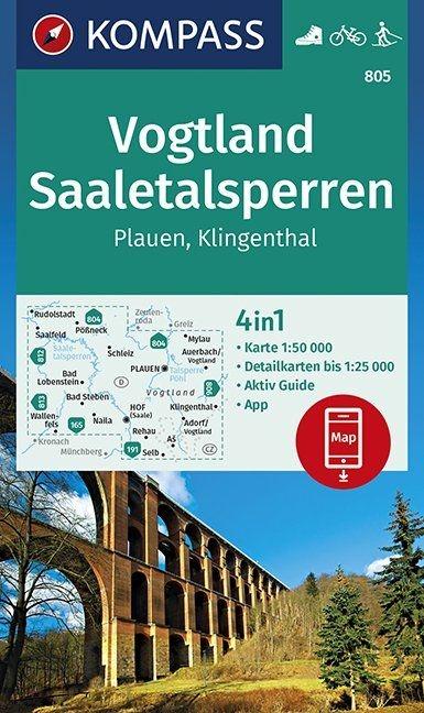 ,Vogtland, Saaletalsperren, Plauen, Klingenthal 1:50 000