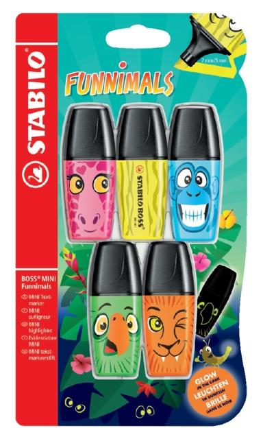 ,Markeerstift STABILO Boss mini sweet friends blister à 5 kleuren