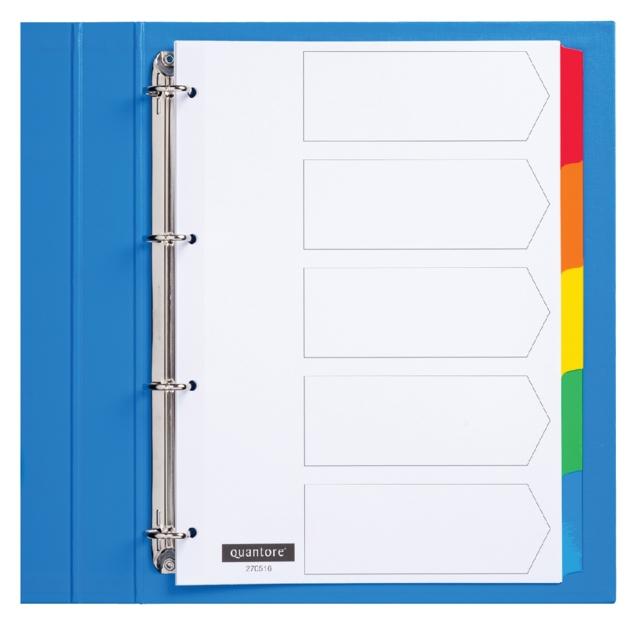 ,Tabbladen Quantore 4-gaats 5-delig wit karton