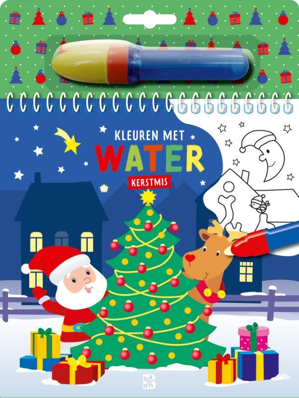 ,Kleuren met water - Kerstmis