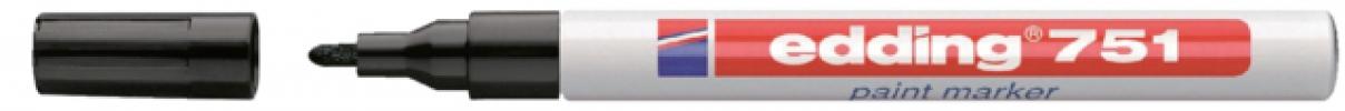 ,Edding 751 verfstift zwart 1-2mm