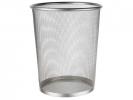 ,papierbak Alco metaal 15l. zilver, geperforeerd metaal